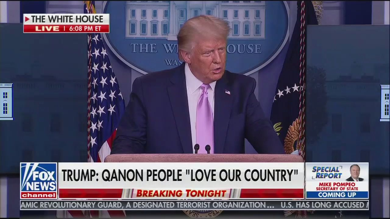 TRUMP: QANON PEOPLE